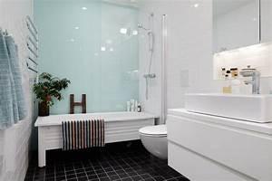Panneau Deco Salle De Bain : panneau d coratif mural en verre dans la salle de bains ~ Melissatoandfro.com Idées de Décoration