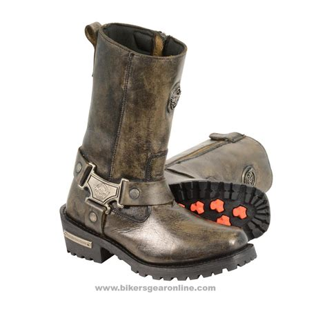 motocross womens women s distressed brown motorcycle boots genuine leather