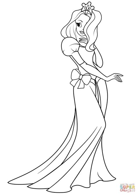 pretty coloring pages pretty princess coloring page free printable coloring pages