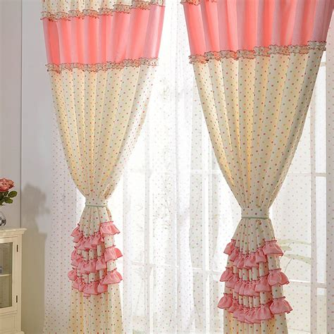 pink and white curtains pink and white polka dot curtains are simple and beautiful