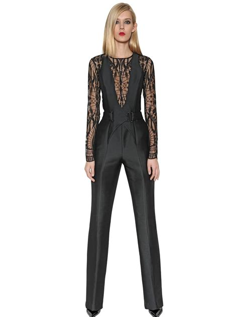 two jumpsuit lyst zuhair murad mohair wool blend lace jumpsuit
