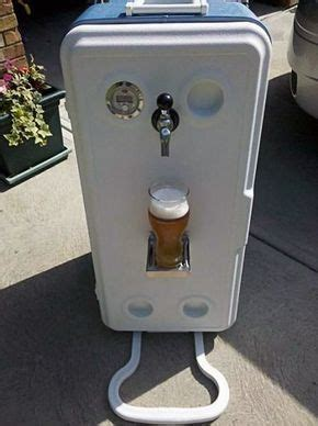 corny cooler portable kegerator diy  images home