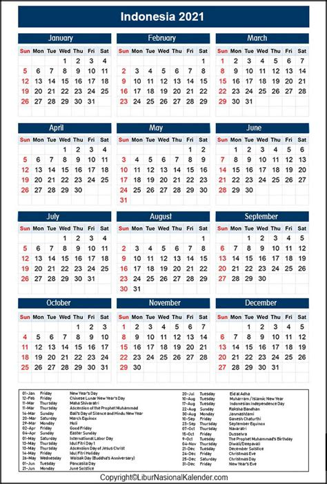 If you want to see what flower is which, move you mouse over the image. Calendar 2021 Indonesia | Public Holidays 2021