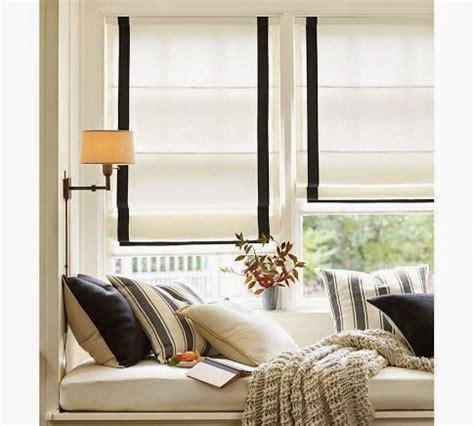pottery barn window treatments pottery barn window seat and shades knock