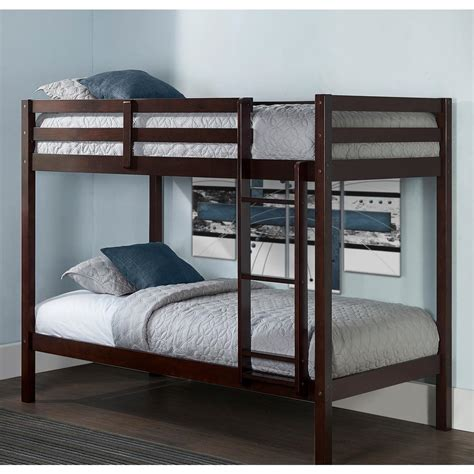 24615 bunk beds and lofts hillsdale furniture caspian chocolate bunk