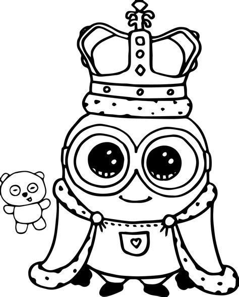 Minion King Bob Cute Coloring Page Wecoloringpagecom