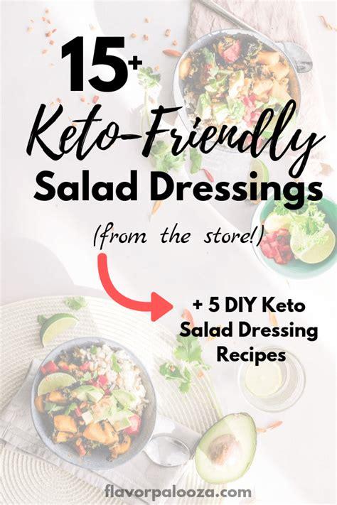 store bought keto salad dressings  diy salad