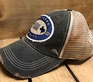 Distressed Trucker Cap – Black – Southern Trinity Apparel