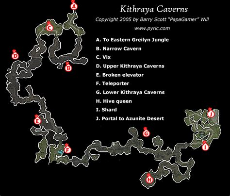 dungeon siege map dungeon siege ii kithraya caverns map png papagamer