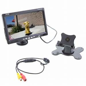 Pyle Plcm7700 7 U0026quot  Window Mount Tft  Lcd Monitor  U0026 Rearview Camera With Distance Scale Line
