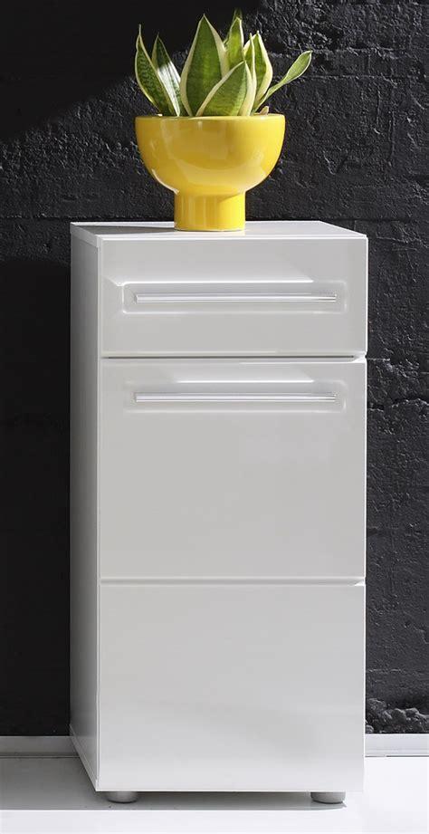 meuble rangement blanc laque