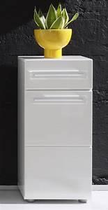 Meuble Tiroir Salle De Bain : meuble bas de salle de bain 1 porte 1 tiroir laqu blanc ~ Edinachiropracticcenter.com Idées de Décoration