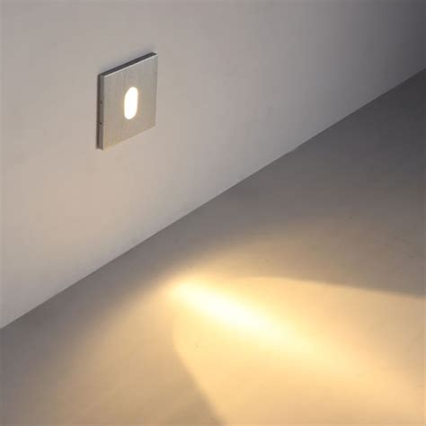 lsl011 stair riser light square brushed aluminium 1