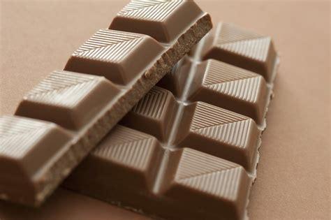 broken bar  milk chocolate  stock image