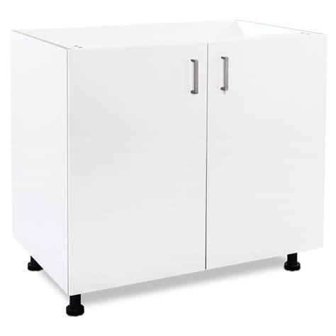 2 Door Laundry Cupboard by Flatpax 900mm White 2 Door Utility Base Cupboard