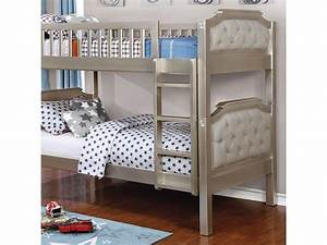 Beatrice TwinTwin Bunk Bed In Champagne Shop For