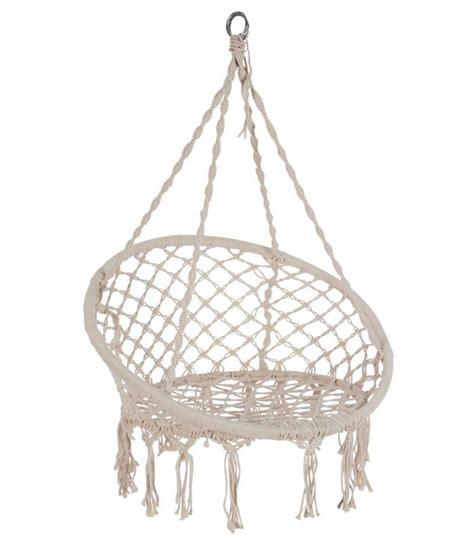 chaise hamac suspendu chaise hamac chaise suspendue relaxante en corde ivoire
