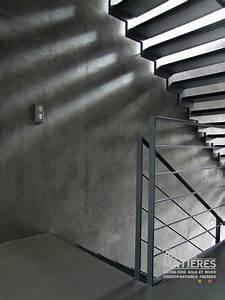 effet beton brut ou effet pierre beton cire enduits With enduit decoratif effet beton