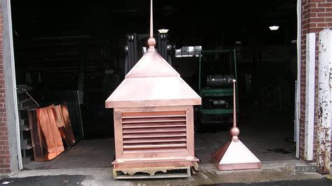 Copper Roof With Finial During Installation