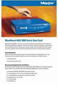 Maxtor Maxattach Nas 3000 Quick Start Manual Pdf Download