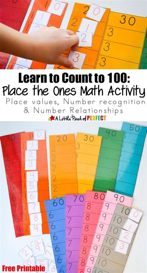 learn to count to 100 place the ones free printable math activity elementary classroom stem