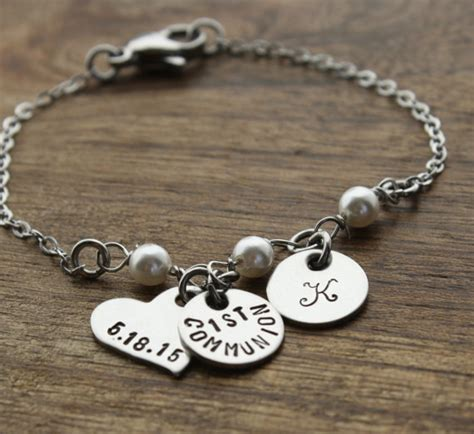 gifts for communion girl communion bracelet personalized by