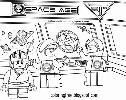 Space Solar System Coloring Drawing Science Planet