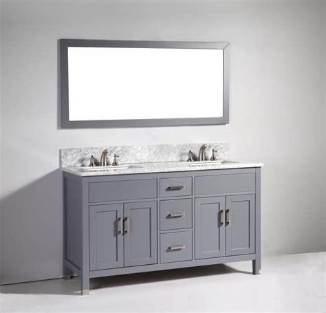 gray double sink vanity 60 inch modern double sink vanity in dark gray uvlfwa6260dg