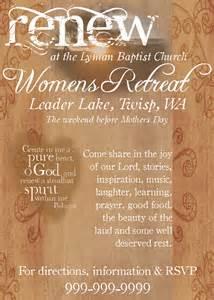 Women's Retreat Flyer