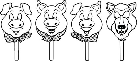 Tree Template Coloring Sheets by Three Little Pigs Coloring Sheets 3 Mask Template Page