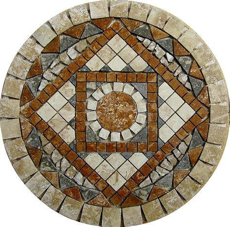 travertine for kitchen floor 24 quot tumbled travertine floor or wall medallion mosaic 6354