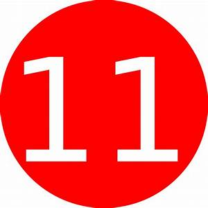 Number 11 Red Background Clip Art at Clker.com - vector ...