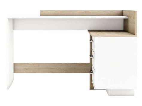 montage de bureau bureau avec retour 3 tiroirs thales 2 coloris chêne brossé
