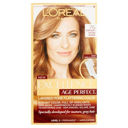 loreal paris age perfect permanent hair color  dark