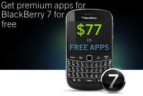 free blackberry 7 app promotion ends may 31st get them before they re crackberry
