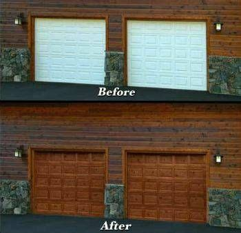 painting garage doors affordable faux wood grain garage