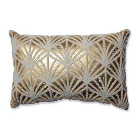 white and gold decorative pillows flock gold white rectangular throw pillow pillow 1736