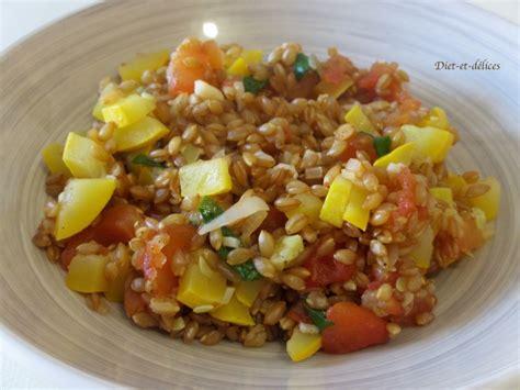 recettes d été cuisine recette petit épeautre de sault aux légumes d 39 été