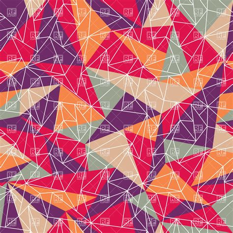 geometric pattern with colorful triangles 37363