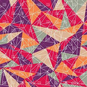 Geometric pattern with colorful triangles, 37363 ...