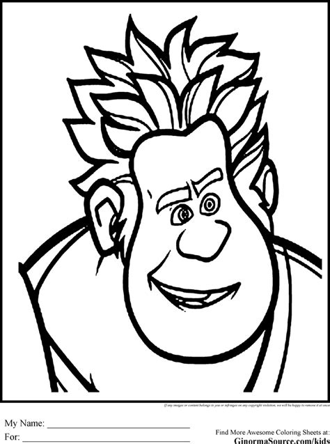 wreck  ralph coloring pages coloring pages pinterest