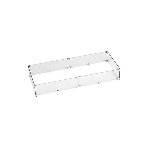 It shelters the flame while providing a safety barrier for users along with polished edges. American Fireglass Fire Pit Glass Wind Guard, Rectangular ...