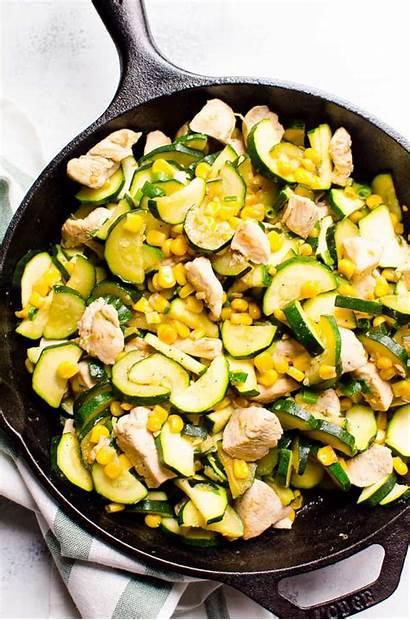 Squash Low Fried Zucchini Chicken Recipe Yellow
