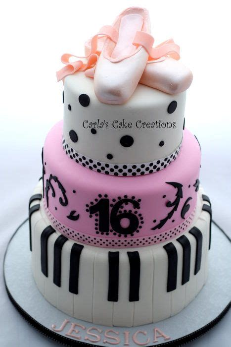dancer cake  loves  play  piano food cakes