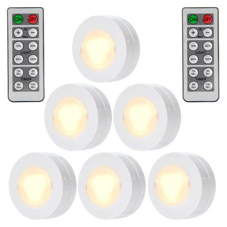 wireless led puck lights  remote control battery