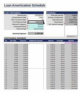 Amortization Table Mortgage 9 Loan Amortization Schedule Template 7 Free Excel