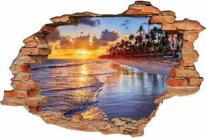 Image Trompe L Oeil : stickers trompe l 39 oeil 3d plage 5 pas cher ~ Melissatoandfro.com Idées de Décoration