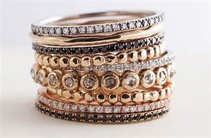gorgeous stackable wedding bands assorted metals onewedcom With stackable wedding rings