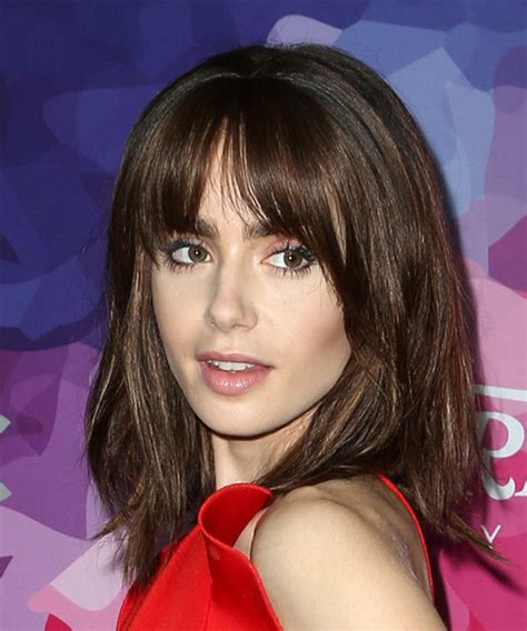 lily collins hairstyles hair cuts  colors