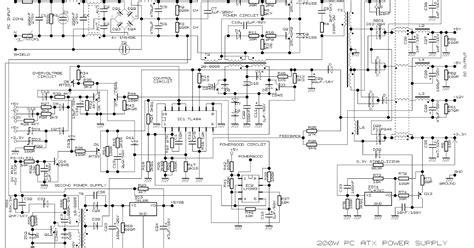 Simple Atx Power Supply Wiring Diagram Schematic
